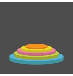Colorful round stage podium empty pedistal for vector
