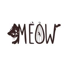 a little kitten The cat s vector image