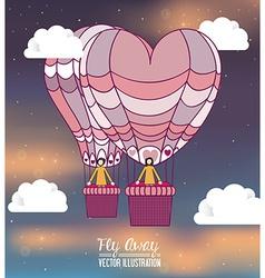 air balloon desing vector image