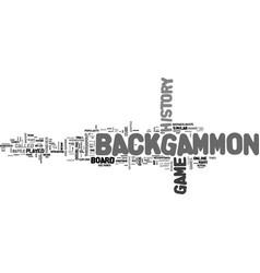 Backgammon online text word cloud concept vector