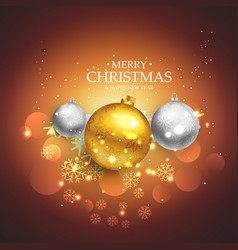 Beautiful christmas festival background with vector