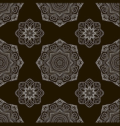 Black and white seamless pattern ethnic ornament vector