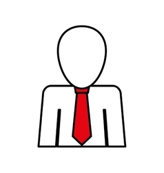 Businessman with tie pictogram vector image