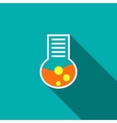 Chemical laboratory flask icon flat style vector image vector image