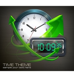 Clocks arrows vector image vector image