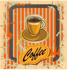 Coffee in retro style vector
