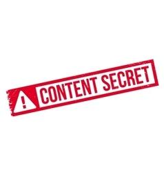 Content Secret rubber stamp vector image vector image