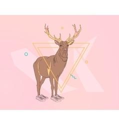 Creative deer print vector image