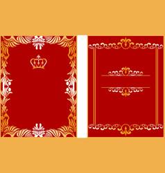 Elegant borders b vector