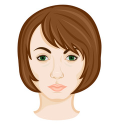 Face of young woman vector