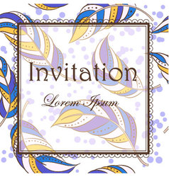 Feathers-invitation vector