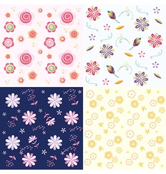 Floral flower background vector