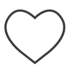 heart line icon web and mobile love sign vector image vector image