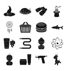 Holiday amulet drink and other web icon in black vector