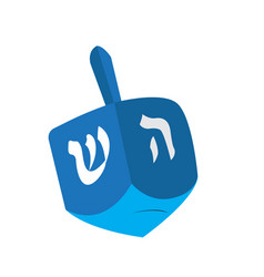 Isolated jewish dreidel vector
