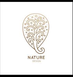 logo magic tree vector image vector image