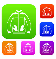 men winter jacket set collection vector image