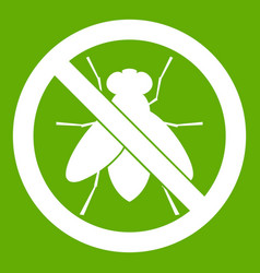 no fly sign icon green vector image vector image