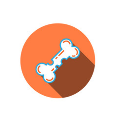 Osteoporosis icon bone vector