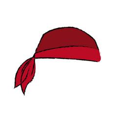 Pirate bandana head costume accessory vector