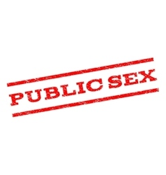 Public sex watermark stamp vector