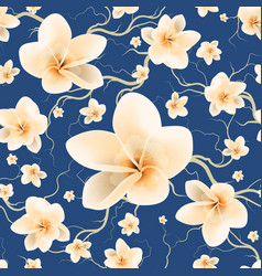 Seamless pattern bloom flowers vector