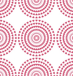 Seamless pattern of swirl pink heart vector