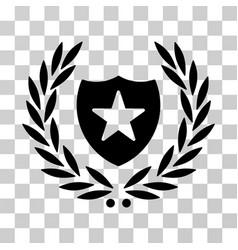 shield laurel wreath icon vector image vector image