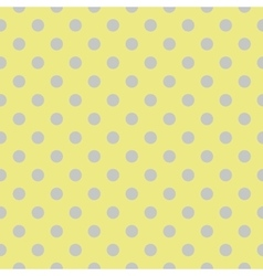 Tile pattern with grey blue polka dots on green vector image
