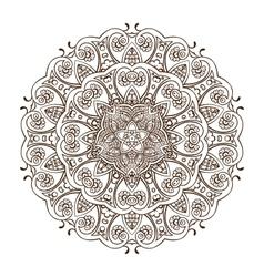 vintage circular pattern of indian vector image vector image