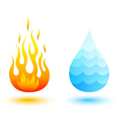 water and fire vector image vector image
