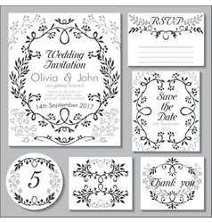 wedding collection Templates for vector image vector image