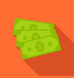 dollar bills icon in flat style vector image