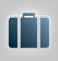 Briefcase sign   blue icon vector
