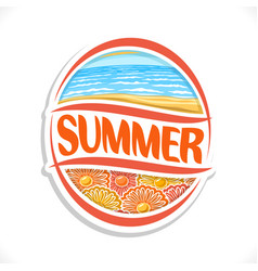 Logo for summer season vector