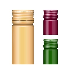 Screw bottle caps vector