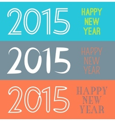 Set of happy new year 2015 banner for holiday vector