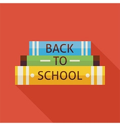 Flat Back to School Books Knowledge with Shadow vector image