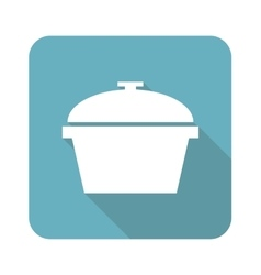 Square pot icon vector