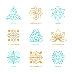 Set of logo design templates and symbols vector