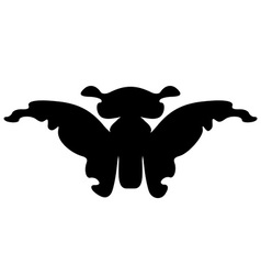 Butterfly silhouette isolated vector