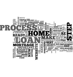 a breakdown of the loan process text word cloud vector image vector image