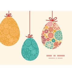 abstract decorative circles hanging Easter vector image