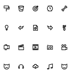 Apple watch icons 9 vector
