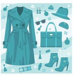 autumn fashion set vector image vector image