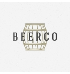 Beer barrel logo or badge design element vector