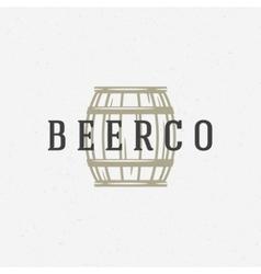 Beer barrel logo or badge design element vector