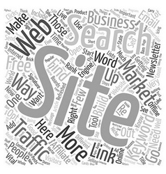 Build free traffic to your websites text vector