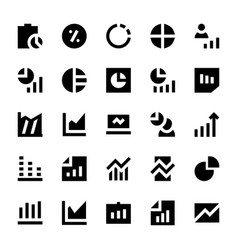 business charts and diagrams solid icons 2 vector image