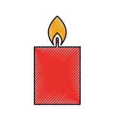 candle christmas flower decoration festive vector image